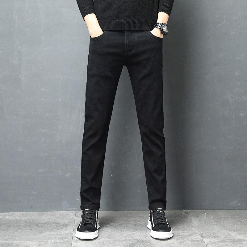 Jeans For Mens Slim Fit Pants 2020 New Classic Male Denim Designer Trousers Casual Skinny Straight Autumn Streetwear MOOWNUC