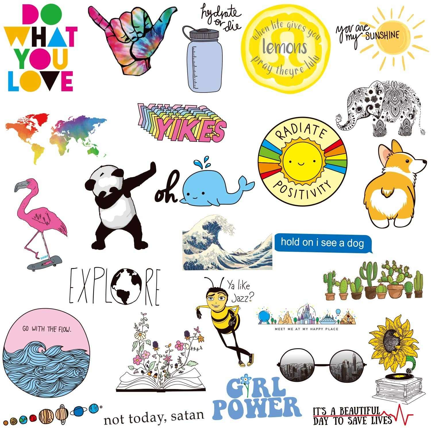 This is a graphic of Smart Hydro Flask Stickers Printable
