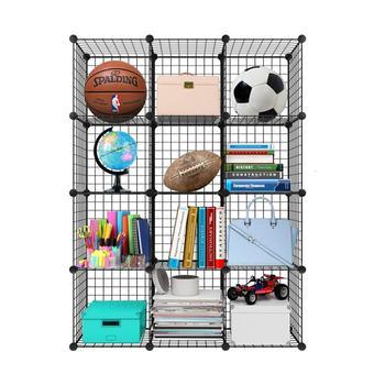 цена Metal Storage Bookcase Bookshelf Toy rack Industrial Decoration DIY  Shelf Organizer Home furniture Wire Standing StorageWardroe онлайн в 2017 году