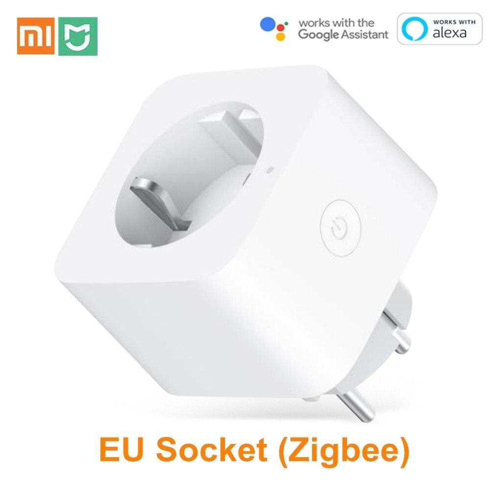 Xiaomi Mijia EU Smart Socket WiFi Zigbee Remote Control Time Switch Power-saving Works with Google assistant Alexa