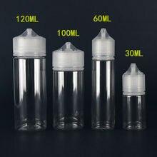 جديد 5 قطعة 30 مللي/60 مللي/100 مللي/120 مللي PET البلاستيك قطارة فارغة E العين السائل زجاجات مياه واضحة طويل تلميح غطاء عصير النفط قلم Vape زجاجة