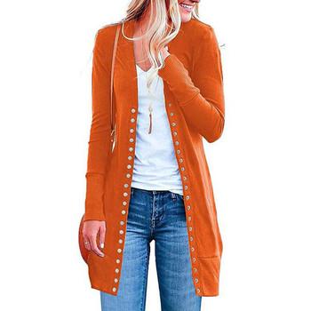 AMSGEND odzież damska moda damska płaszcz moda jednolity kolor Casual długi rękaw przycisk kobiety kurtka płaszcz kurtka damska tanie i dobre opinie CHAMSGEND CN (pochodzenie) Zima long REGULAR Osób w wieku 18-35 lat V-neck Pojedyncze piersi Na co dzień Pełna coat STANDARD