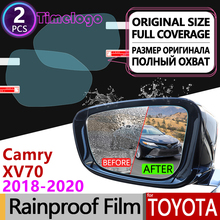 For Toyota Camry 70 XV70 2018 2019 2020 Full Cover Anti Fog Film Rearview Mirror Rainproof Anti-Fog Films Clean Car Accessories