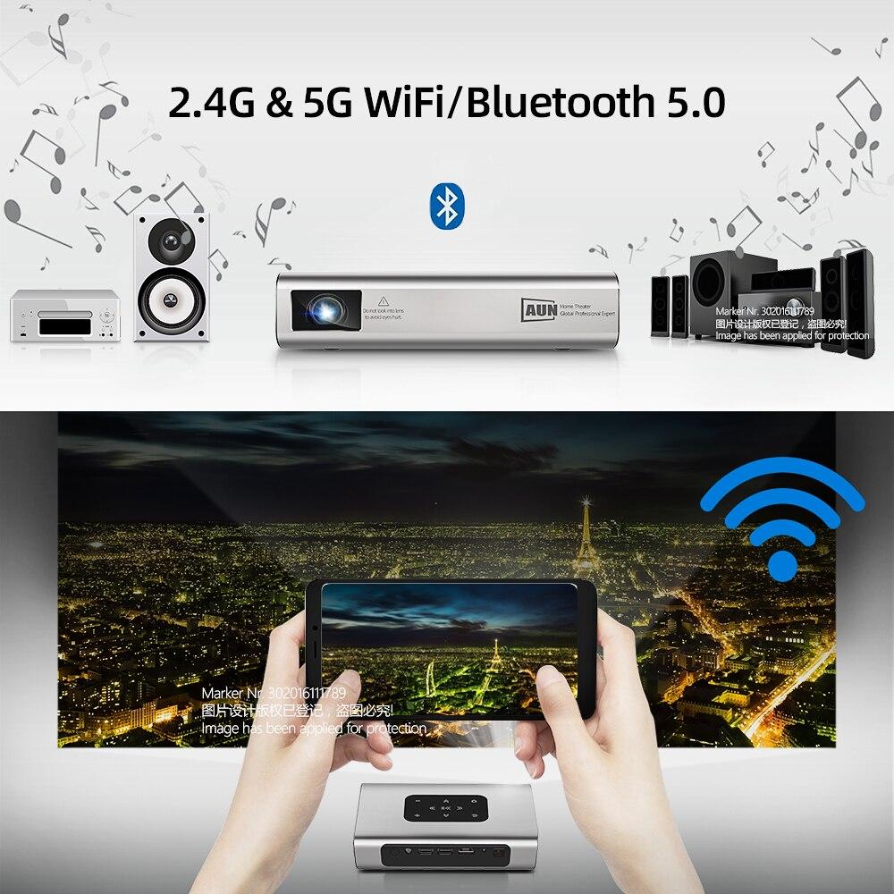 AUN Projector X5 |4K Android WIFI 3D 10500mAH Battery 300inch 1080P DLP MINI Portable Vedio Projector Smart TV Laser Beamer HDMI 6
