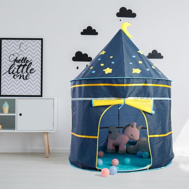Enfants tente intérieure extérieure jouer maison Portable princesse château bébé jouer fille tente pour enfants anniversaire jouets cadeau de noël