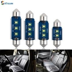 1 pcs Canbus Super Bright Chip C5W C10W Festoon 31MM 36MM 39MM 41MM Car LED Bulb Dome Lights Auto License Plate Lamp 12V White