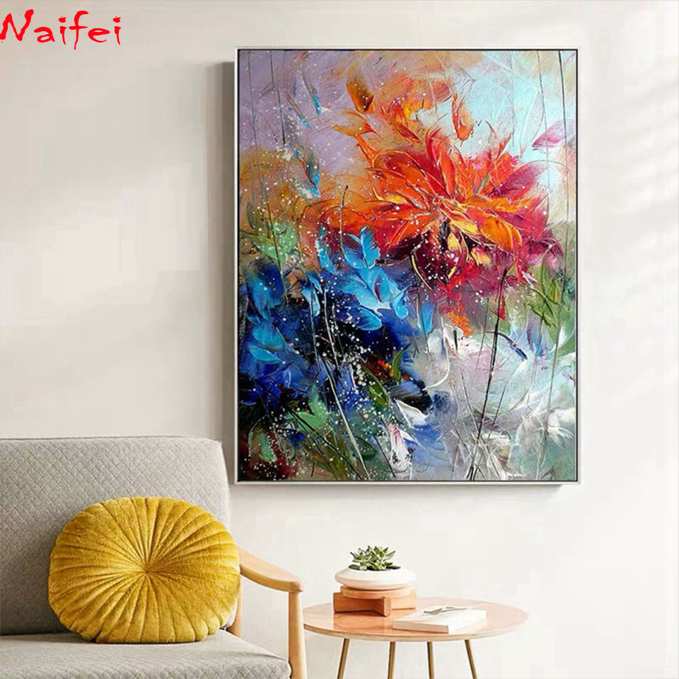 Full Round Square Drill 5d Diy Diamond Painting Floral Abstract Embroidery Flower Cross Stitch Home Decor Mosaic Diamond Art Special Discount 27df39 Cicig