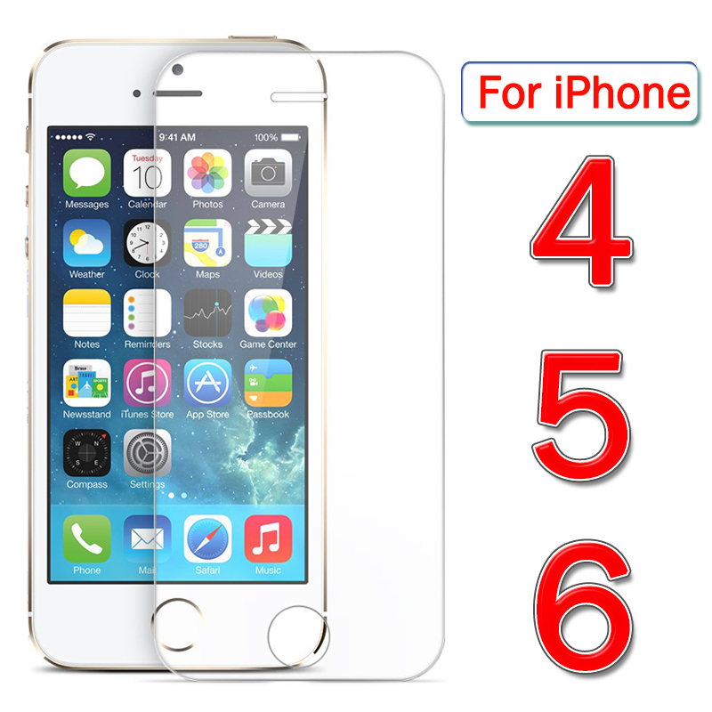 Iphone4 Protective Glass On For Apple Iphone 6 5 4 Screen Protector Aphone Ip Iphone5 Iphone6 Iph Armor Tempered Glas Sheet Film