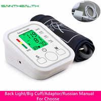 Tensiomètre automatique à bras numérique tensiomètre BP sphygmomanomètre tonomètre pour mesurer la pression artérielle