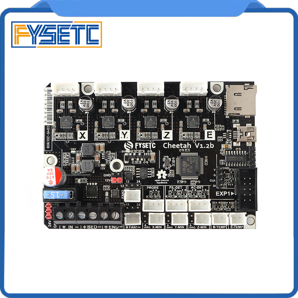 Cheetah 32bit Board TMC2209 TMC2208 Silent Control Board With Addon 24V To 12V Module For CR10 Ender-3 5 Ender-3 Pro