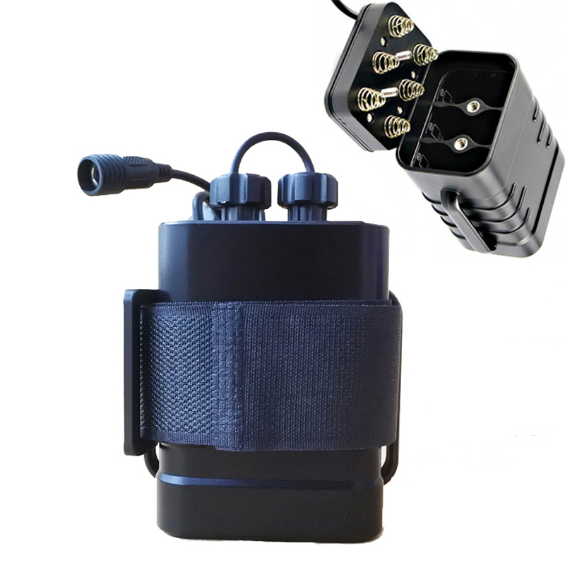 18650 водонепроницаемый батарейный отсек 6x18650 Батарейный