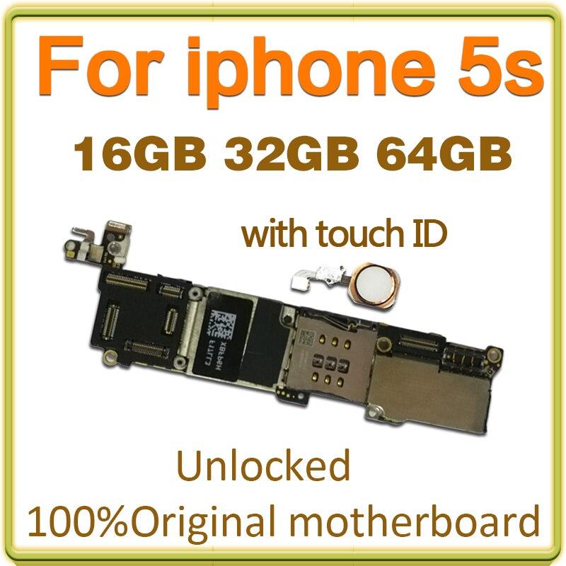 16 Gb 32 Gb 64 Gb Pour La Carte Mere D Iphone 5s Sans Avec L Id De Contact 100 Original Debloque Pour La Carte Mere D Iphone 5s Aliexpress