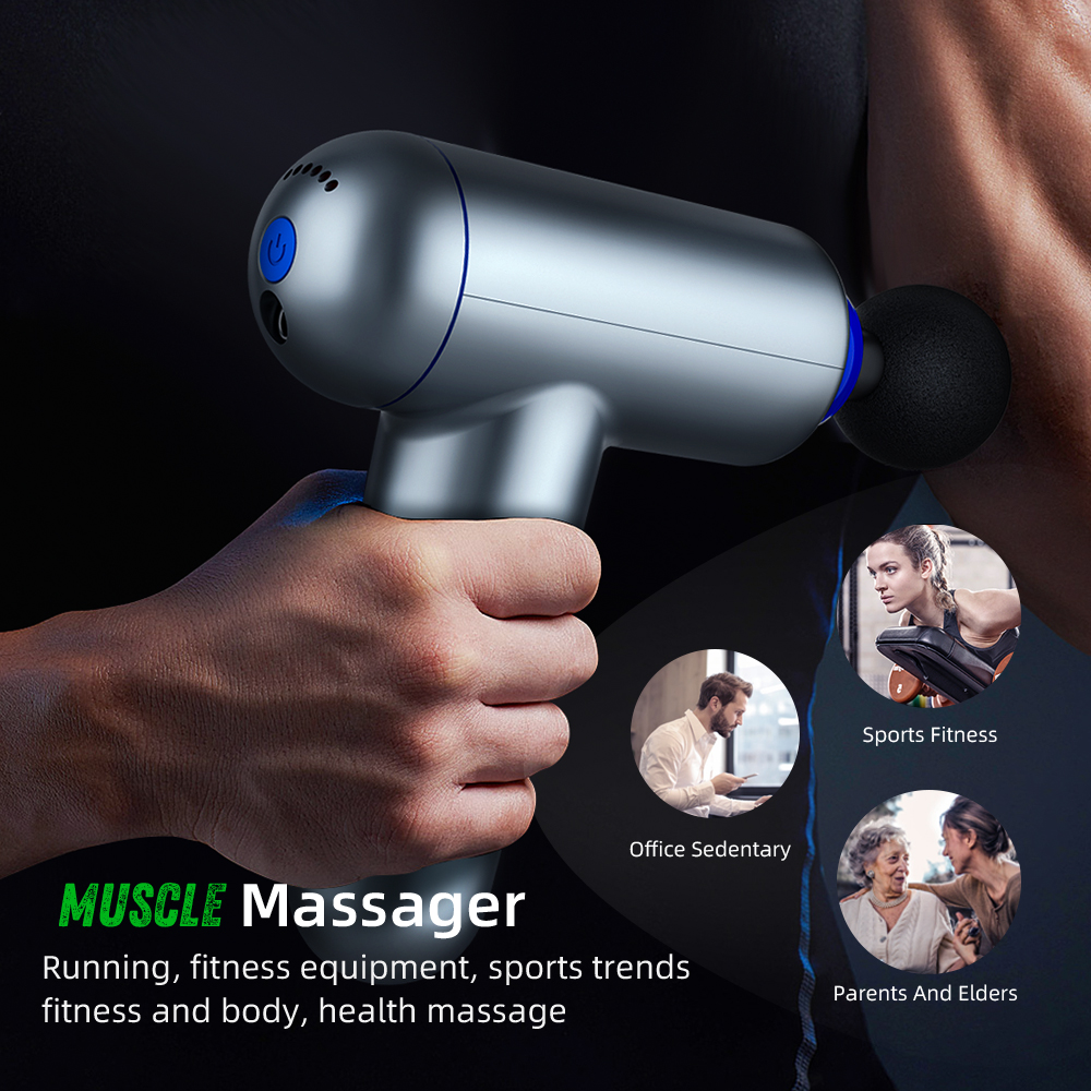 Fascia Gun Therapy Massage Gun Muscle Electric Massager Relif Pain Sport USB Charge Massage Machine Relax Body Slimming Vibrator
