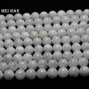 Image 2 - Meihan wholesale (approx 38beads/set/53g/)  A+ 9.5 10.5mm natural moonstone smooth round loose beads for jewelry making design