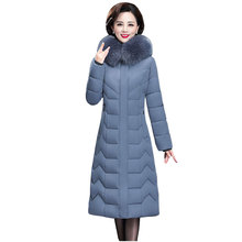 Long Slim Fur Coat Hooded Winter Down Coat Heavy Jacket Thic