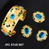 3pc Blue stud Set
