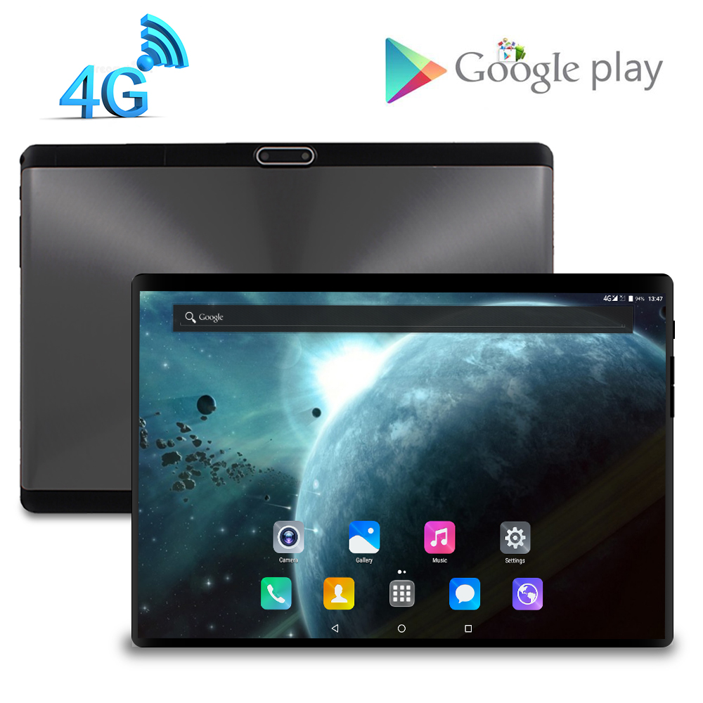 8.0 MP Camera 2.5D Tempered Glass Screen 10.1 Inch Octa Core 3G 4G FDD LTE Tablet 3GB RAM 32GB ROM Android 7.0 Tablet 10 Pocke