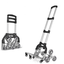 B-LIFE Stair Climbing Hand Truck Aluminum Alloy Portable Climbing Cart 6 Crystal Wheels All Terrain Stair Climbing Cart