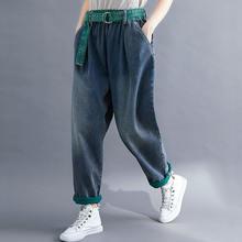 Женские джинсовые брюки в стиле ретро с ремнем модель 2020 года