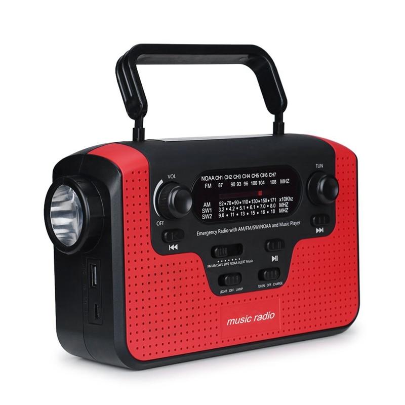 Promotion Bluetooth Radio Solar Hand Crank Emergency Am/Fm/Sw/Wb Radio Led Flashlight Reading Camping Lamp Solar Powered Hand