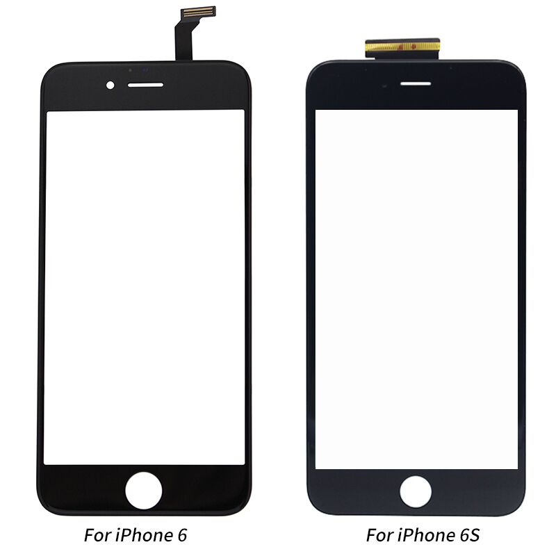New Black White Touch Screen Digitizer Panel Glass Lens for iPhone 6 6s 6S Plus Cheap Display Front Replacement Part Repair Part image