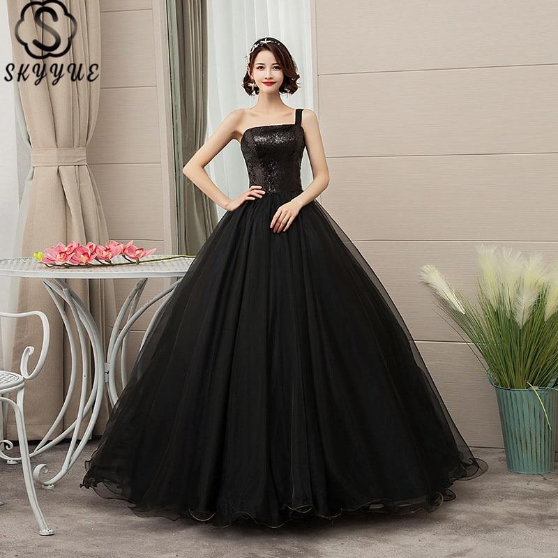 Skyyue Wedding Dresses Strapless Sequined Plus Size Wedding Dress 2019 Sleeveless Floor-Length Ball Gown Vestido De Novia CH204