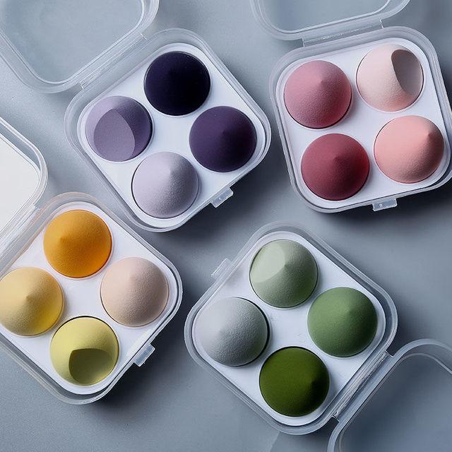 4pcs Make Up Accessories  Makeup Sponge Foundation Powder Purple Sponge Beauty Tool for Applying Foundations Powders & Creams 2