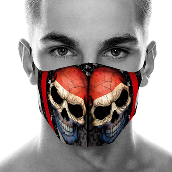 Color Series Skull Face Mask Printing Fabric Mask Protective PM 2.5 Mouth-Muffle Dust Washable Reusable Mask