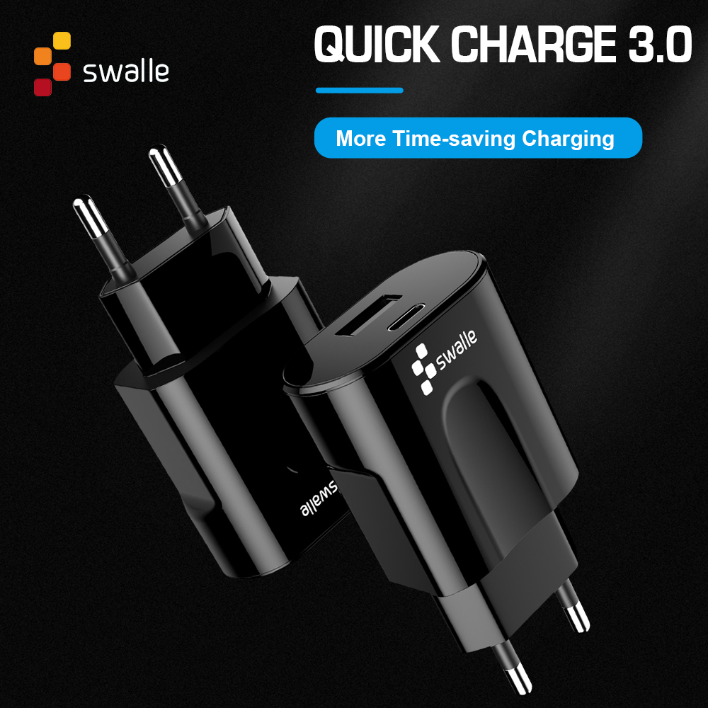 Swalle High quality 3.0 USB & Type-C 2 in 1 <font><b>Charger</b></font> <font><b>5V</b></font> 3.1A for Huawei 30W QC 3.0 Quick <font><b>Charger</b></font> PD 3.0 Fast <font><b>Charger</b></font> for iPhone image