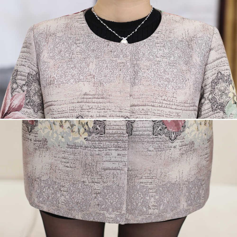 Женское осенне-зимнее пальто, элегантное дамское пальто, винтажная верхняя одежда с цветочным рисунком, женское розовое, серое пальто 4XL, Женское пальто