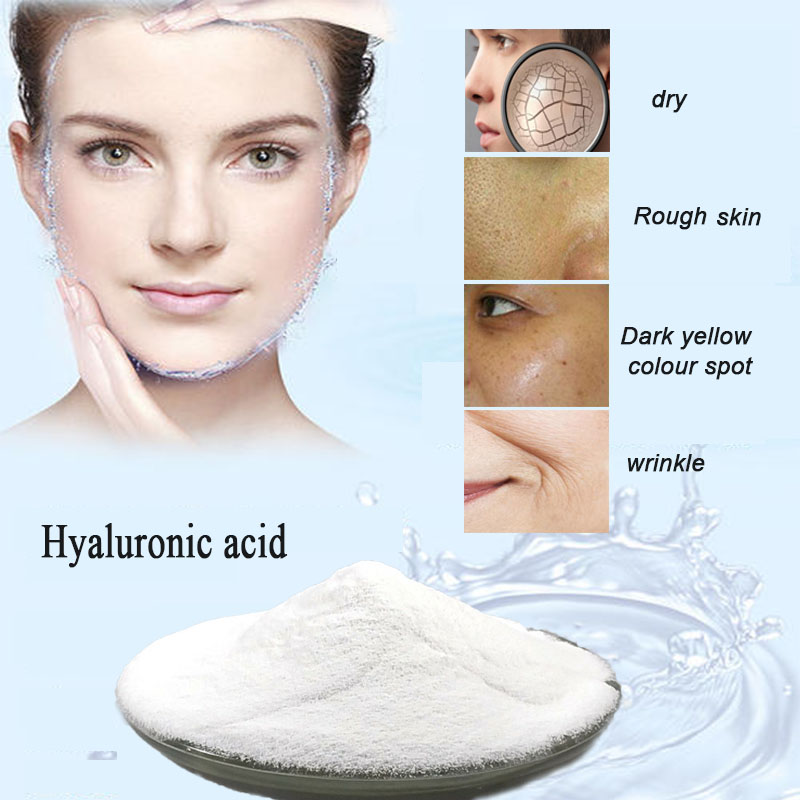 50/100/500g Hyaluronic Acid Powder, Sodium Hyaluronate, High Quality Raw Material, Low Molecular Weight 80 KDa ,beauty