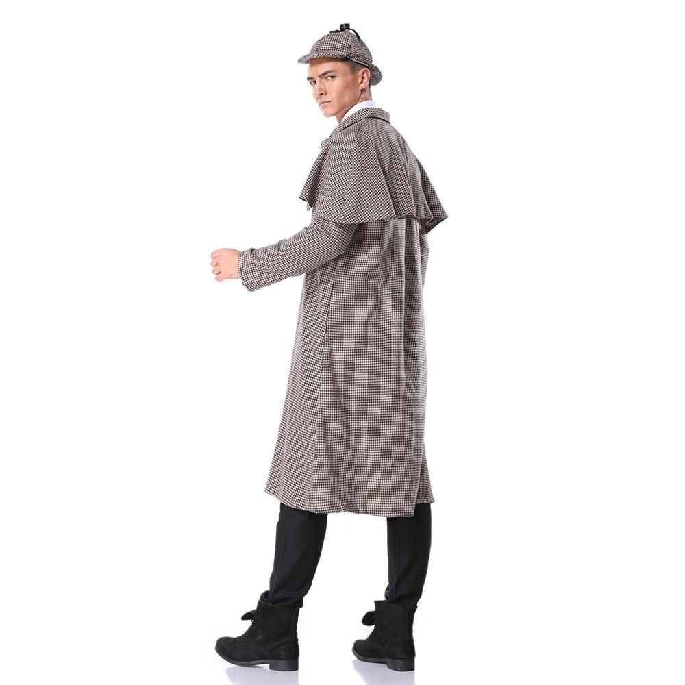 Adult Sherlock Holmes Costume Mens Victorian Detective Fancy Dress Kit Book Week