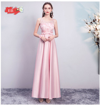 Wedding Guest Dress Vestido Largo Sirena Bridesmaids Dress Elegant Satin Sleeveless A-Line Long Simple Dress Sexy Prom Champagne