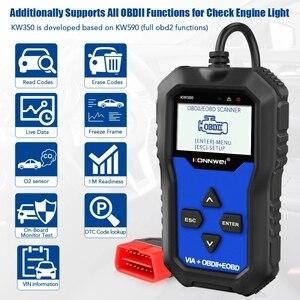 Image 2 - Konnwei KW350 Car Diagnostic Scanner Support For VW for Audi / For Skoda / For Seat  Airbag SRS ABS Brake Oil Reset EBP