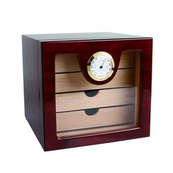 Elegante COHIBA 4 Schubladen Hochglanz Finish Holz Zigarre Schrank Humidor Storage Box W/Elektronische Hygrometer Humidore