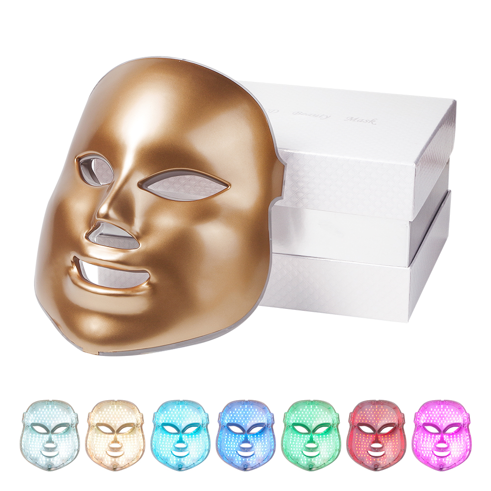 Foreverlily 7 Colors Light LED Facial Mask Skin Rejuvenation Face Care Treatment Beauty Anti Acne Therapy Whitening Instrument