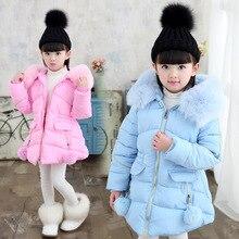 Jacket Parkas Long-Coat Teenage Winter Children's Clothing Padded Hooded Girls Kids Fashion