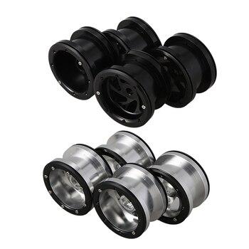 4Pcs 2.2Inch Metal Beadlock Wheel Rims for 1/10 RC Crawler Axial Wraith Silver yfan 4pcs d1rc 1 8 super grip rc crawler 3 2 inch rc thick wheel tires with sponge for 1 8 rc crawler and 1 10 axial km2 wraith