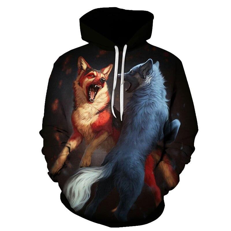 Wolf Printed Women 3d Hoodies Brand Sweatshirts Girl Boy Jackets Pullover Fashion Tracksuits Animal Streetwear Lovers Sweatshirt 89
