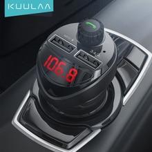 Kuulaa Autolader Fm-zender Bluetooth Car Audio MP3 Speler Tf Card Auto Kit 3.4A Dual Usb Auto Telefoon Oplader voor Xiaomi Mi