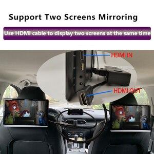 Image 2 - 12.5 بوصة أندرويد 9.0 2GB + 16GB سيارة راصد مسند الرأس نفس الشاشة 4K 1080P MP5 واي فاي/بلوتوث/USB/SD/HDMI/FM/مرآة لينك/Miracast