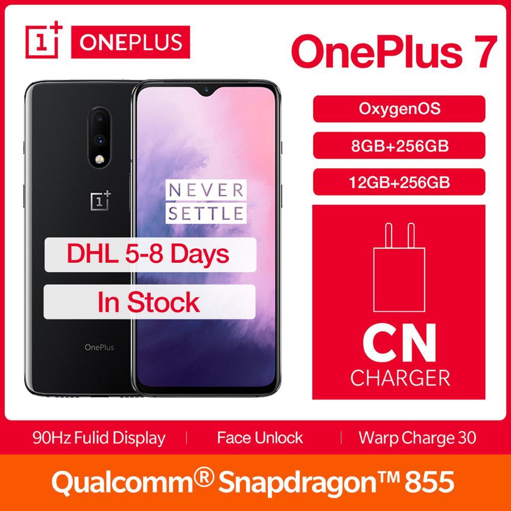 "OnePlus 7 8/12GB 256GB Global ROM Smartphone Snapdragon 855 Octa Core 6.41"" 48MP Mobile Phone Screen Unlock 3700 mAh Battery NFC"
