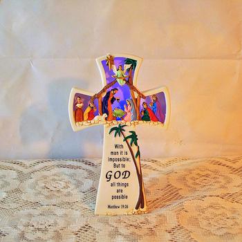 Chrześcijański oświetlony krzyż żywicy ozdoby jezusa prezenty chrześcijańskie ozdoby z jezusem chrystusem tanie i dobre opinie CN (pochodzenie) RESIN