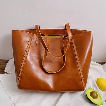 Creative Design Portable PU Handbag Shoulder Bag Classic Texture Chic Women Large Capacity Shopping Totes - discount item  46% OFF Women's Handbags