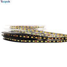 5 мм узкий светодиодный ленточный светильник 2835 120 светодиодов/м, гибкая Диодная лента, белая или черная печатная плата, 12В Диодная Светодиод...