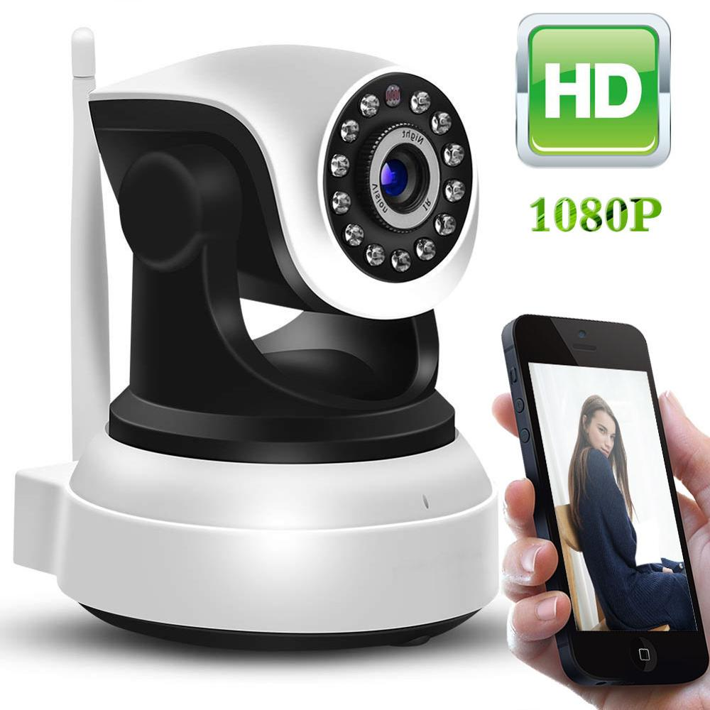 1080P HD WiFi Indoor Wireless Security Camera Motion Detection Night Vision Baby Monitor Two-Way Audio Baby/Pet/Elder Camhi APP