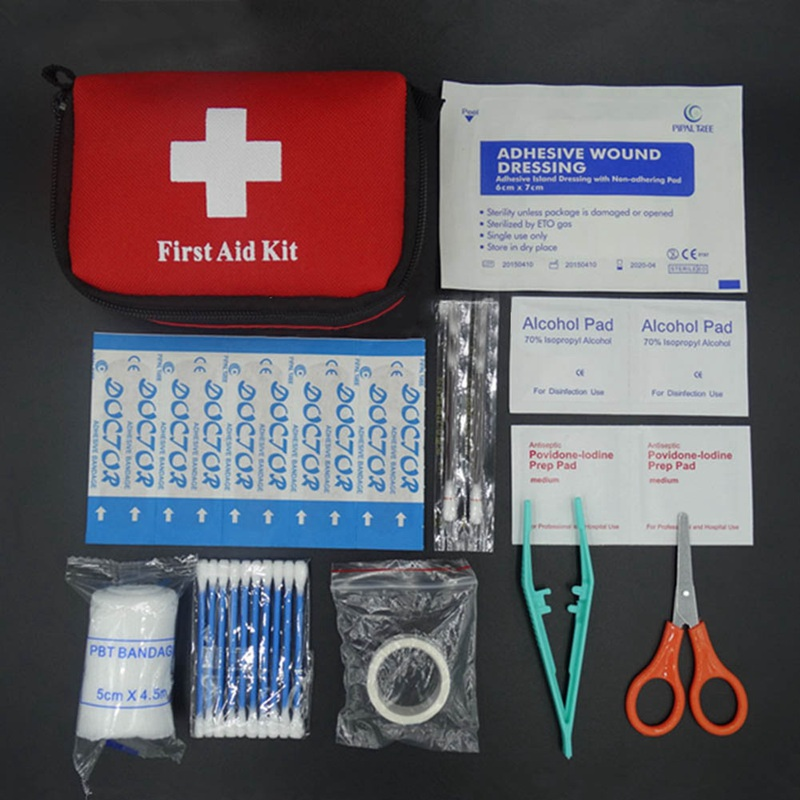 11pcs/set Emergency Survival Bag Mini Family First Aid Kit Sport Travel Kits Home Medical Bag Outdoor Car First Aid Bag