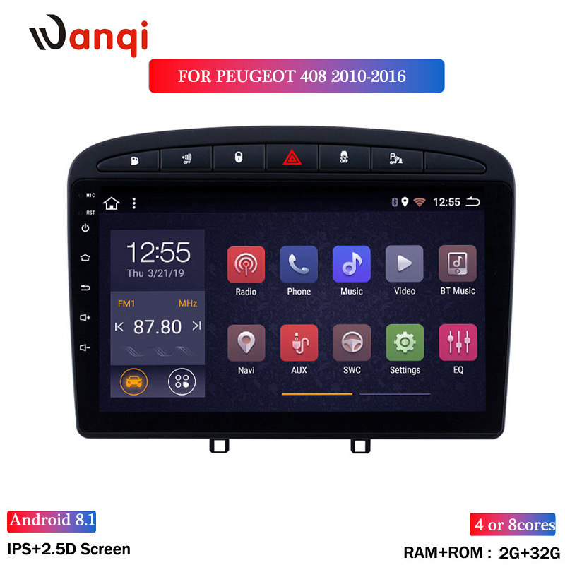 2G RAM 32G ROM 9INCH Car Radio For <font><b>peugeot</b></font> 408 3082010-2016 Android 8.1 <font><b>GPS</b></font> Navigation Multimedia Player WITH SWC image