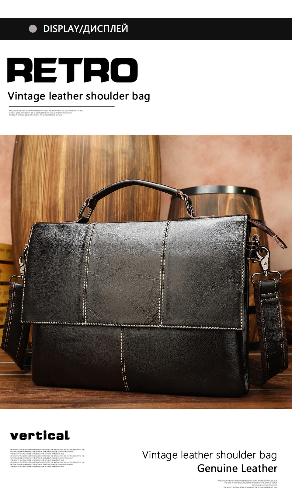 H4e74c18cfb4b4df5a5c0008f8da508afu Bag Men's Briefcase Genuine Leather Office Bags for Men Leather Laptop Bags Shoulder/Messenger Bag Business Briefcase Male 7909
