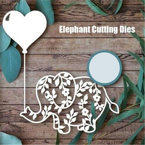 Elephant Dies Animal Metal Cutting Dies For Scrapbooking Die Cut Stitch Craft Dies Troqueles New Die For 2019 Stencil
